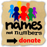 Names Not Numbers charity - because individuals matter!