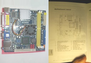 The manual for the motherboard