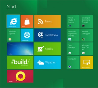 A screenshot of Windows 8 Metro