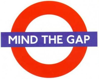 London Underground Mind The Gap logo