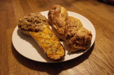 Stuffed Butternut and Lentil Bread