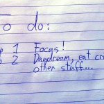 Todo list with Focus as point one.