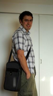 Chris Lowry wearing the Bag
