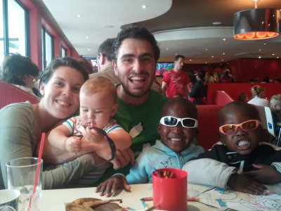 My Family at Wimpy (plus Thembe and Thembelihle)